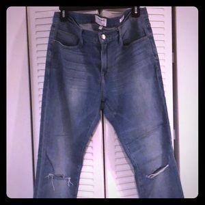 Men's Frame L'Homme Skinny Distressed Jean